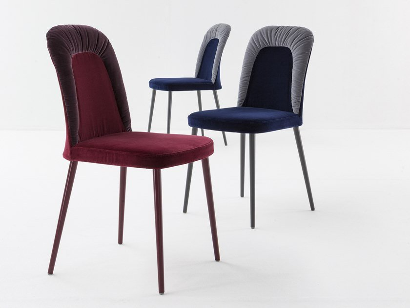 Upholstered fabric chair BENEDETTA by Bonaldo