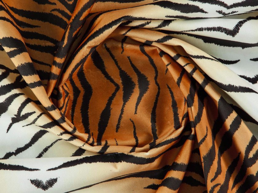 Animalier washable printed polyester fabric BENGAL by More Fabrics