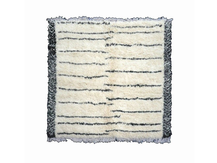 Patterned long pile wool rug BENI OURAIN TA939BE by AFOLKI