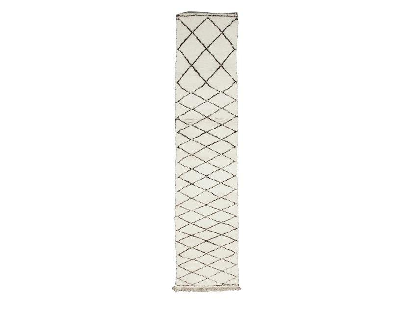 Tappeto rettangolare in lana a motivi geometrici BENI OURAIN TAA1060BE by AFOLKI