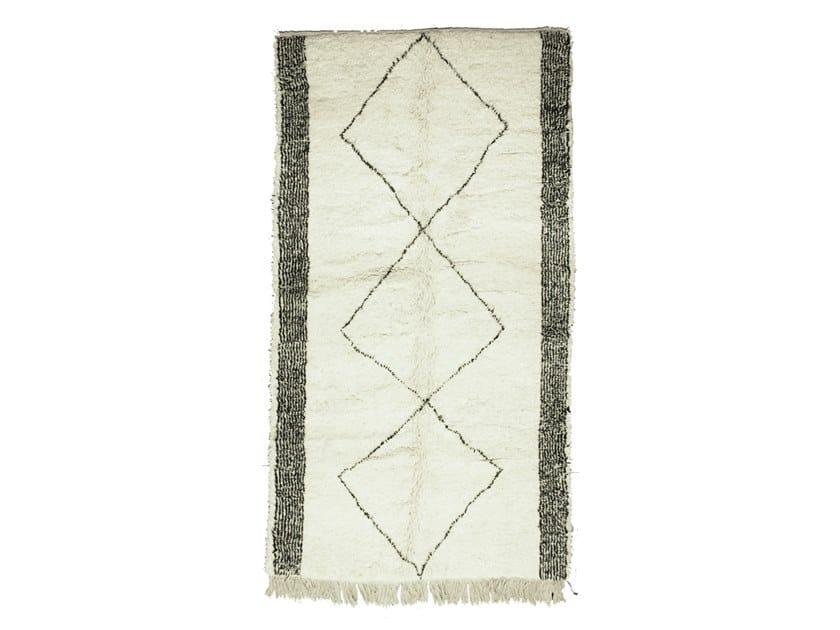 Tappeto rettangolare in lana a motivi geometrici BENI OURAIN TAA1067BE by AFOLKI