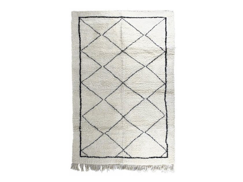 Rectangular wool rug with geometric shapes BENI OURAIN TAA1109BE by AFOLKI
