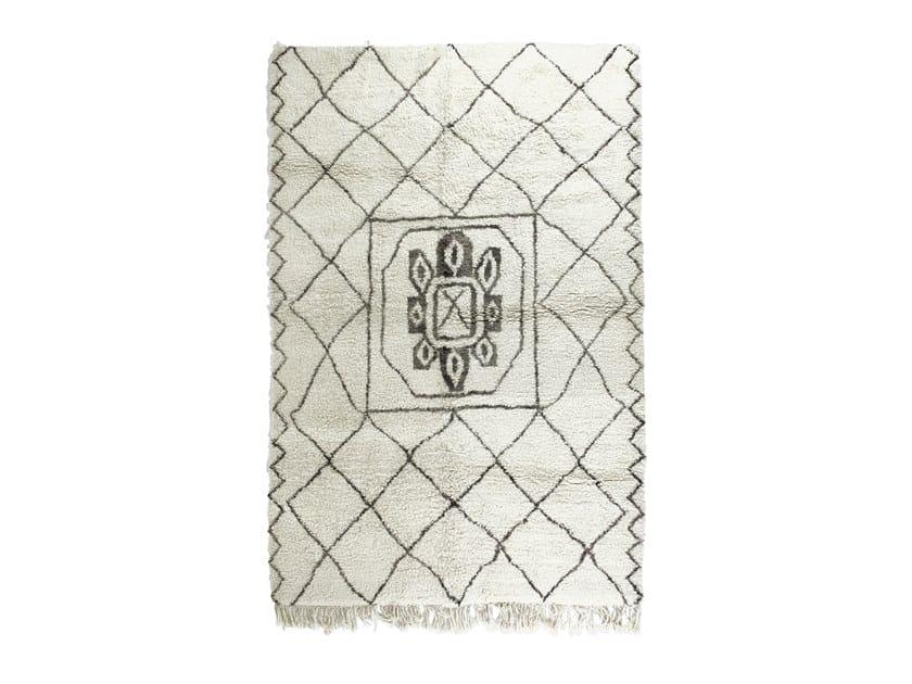Tappeto rettangolare in lana a motivi geometrici BENI OURAIN TAA1114BE by AFOLKI