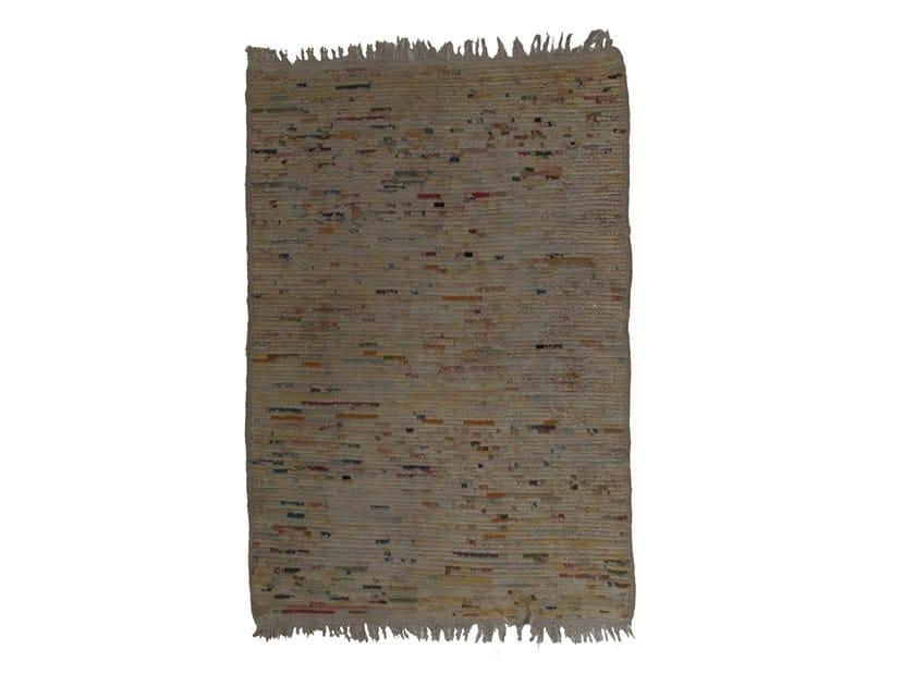 Long pile rectangular wool rug BENI OURAIN TAA1133BE by AFOLKI