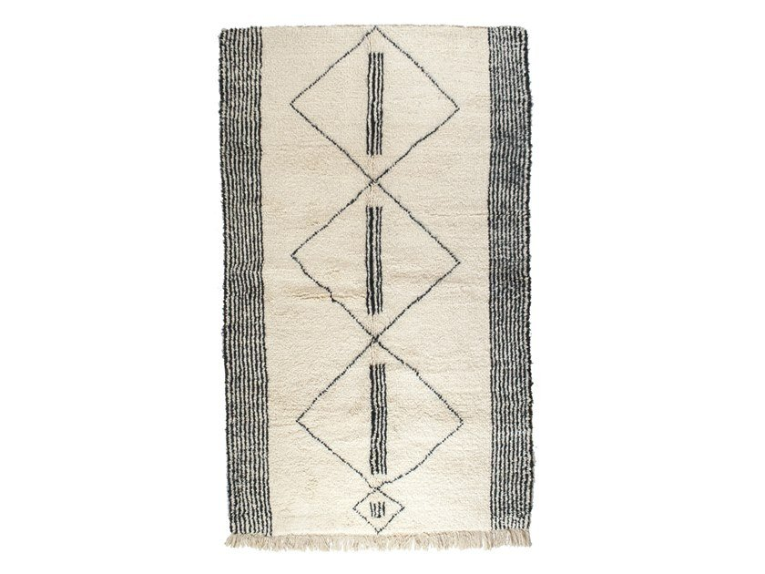 Rectangular wool rug with geometric shapes BENI OURAIN TAA1144BE by AFOLKI