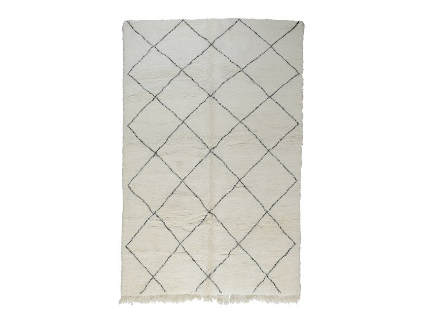 Rectangular wool rug with geometric shapes BENI OURAIN TAA1151BE by AFOLKI