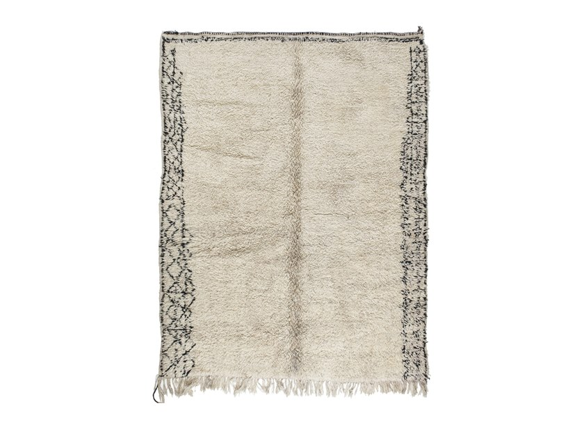 Long pile rectangular wool rug BENI OURAIN TAA1154BE by AFOLKI