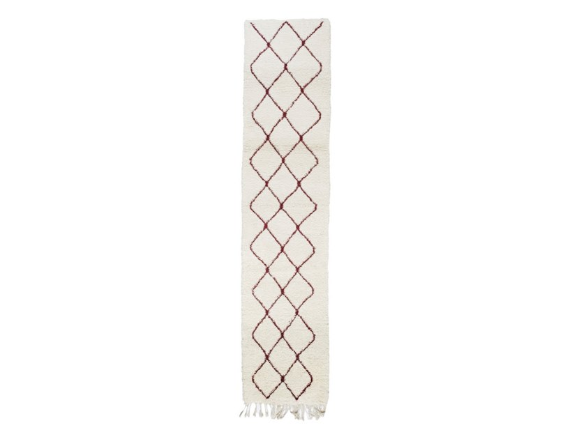 Rectangular wool rug with geometric shapes BENI OURAIN TAA1162BE by AFOLKI