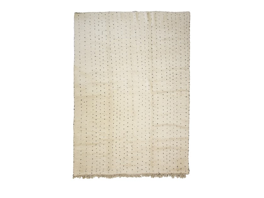Long pile rectangular wool rug BENI OURAIN TAA1254BE by AFOLKI
