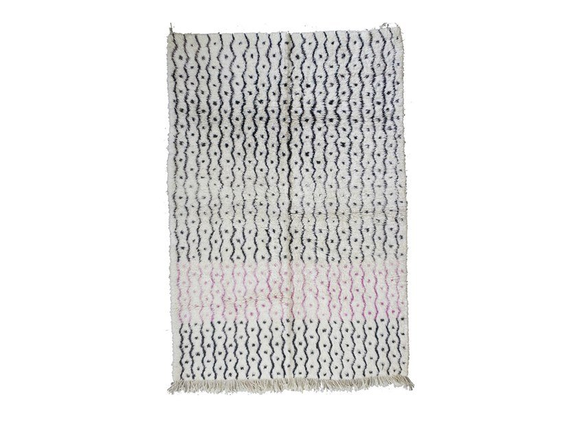 Patterned rectangular wool rug BENI OURAIN TAA1263BE by AFOLKI