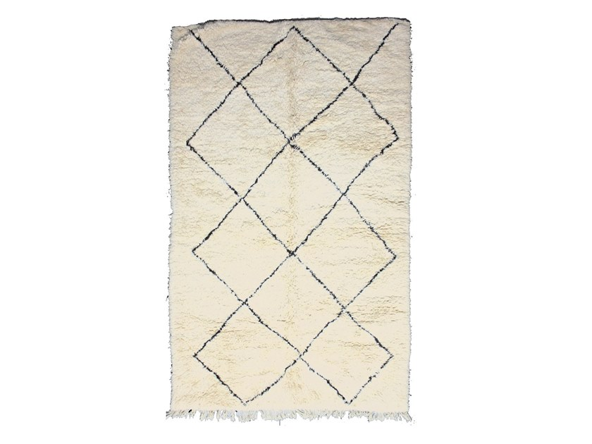 Rectangular wool rug with geometric shapes BENI OURAIN TAA939BE by AFOLKI