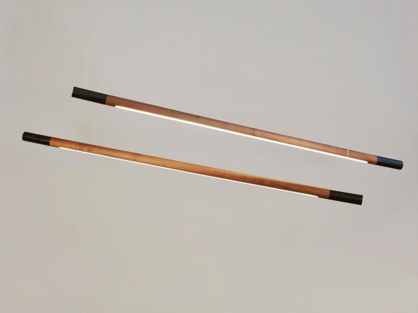 LED direct light solid wood pendant lamp BENNINGTON by hollis+morris