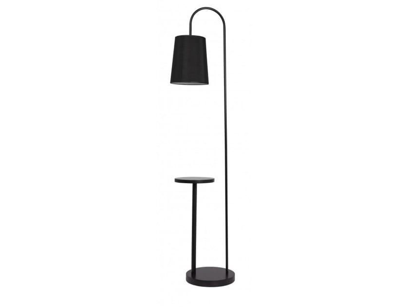Metal floor lamp with shelf BENTON by Flam & Luce