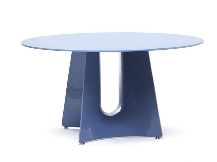 Round aluminium table BENTZ | Round table by BALERI ITALIA