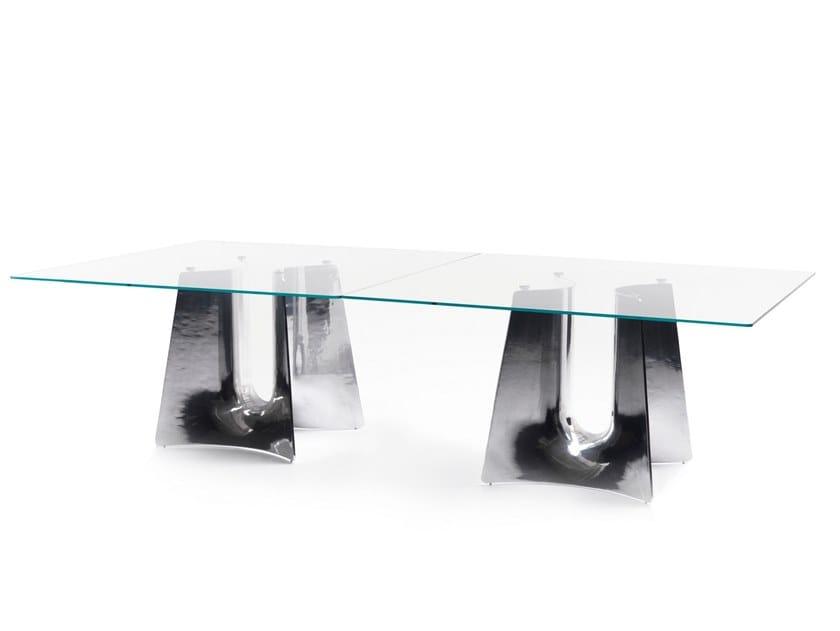 Square aluminium table BENTZ | Square table by BALERI ITALIA