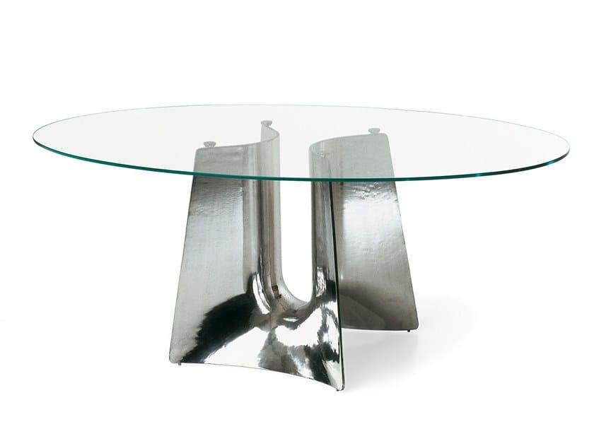 Elliptical aluminium table BENTZ | Table by BALERI ITALIA