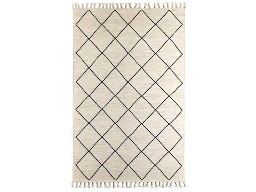 Handmade rectangular wool and cotton rug BEREBER DR 279 by Kuatro