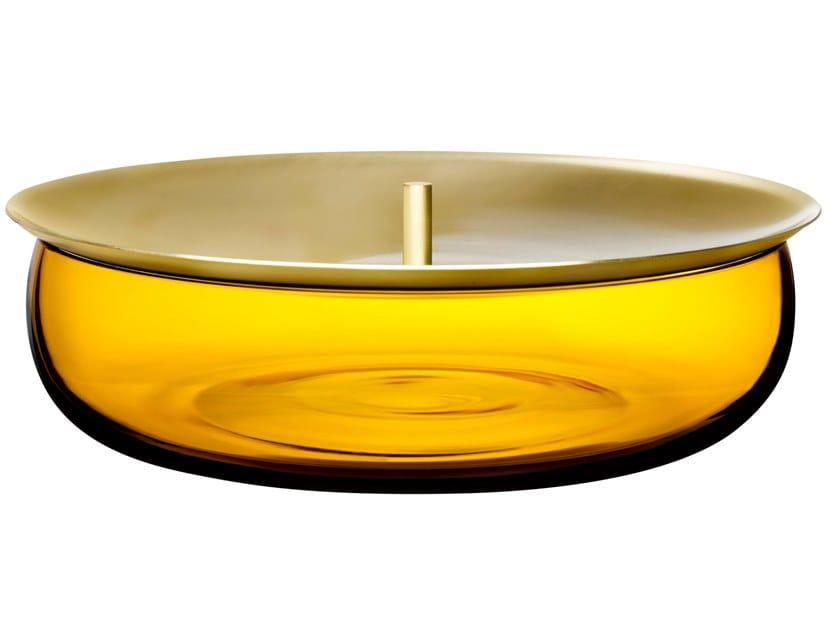 Crystal medium storage box with brass lid BERET MEDIUM by NUDE