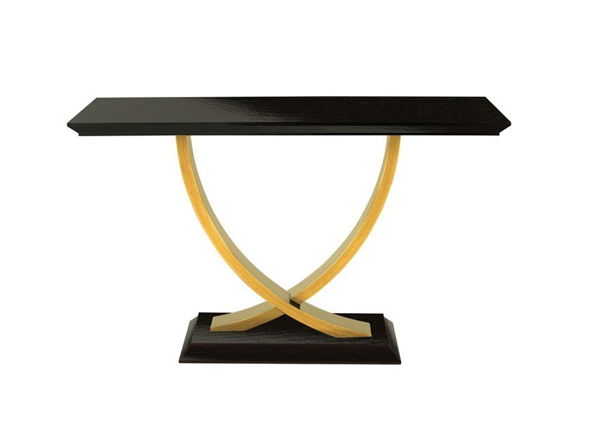 Lacquered rectangular wooden console table BÉRGAMO | Lacquered console table by Green Apple