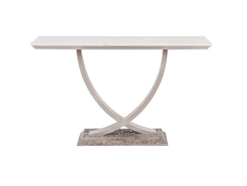 Lacquered rectangular marble console table BÉRGAMO | Marble console table by Green Apple