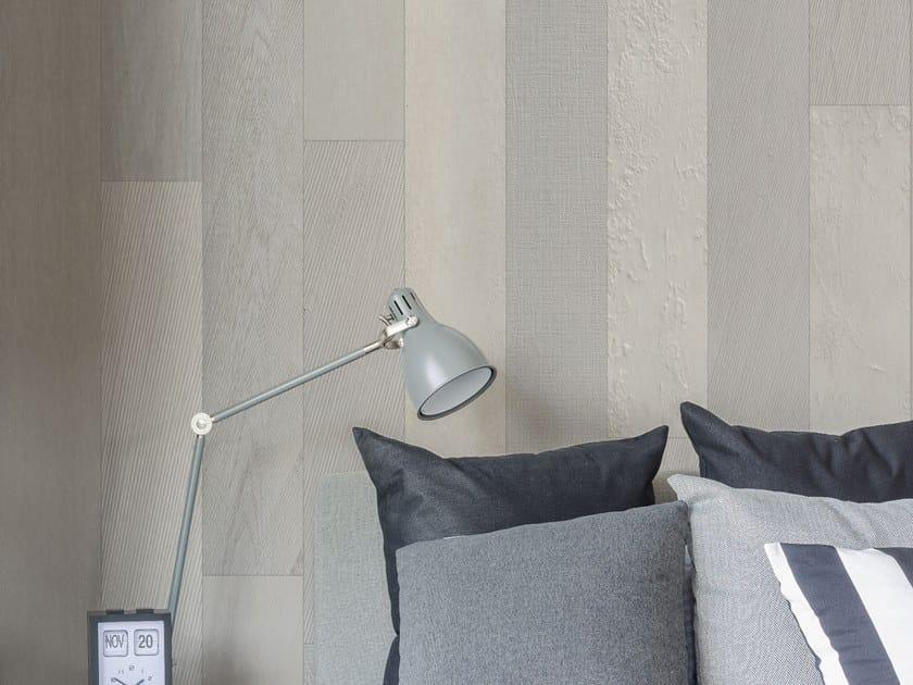 Wood effect Digital printing wallpaper BERGEN by Tecnografica Italian Wallcoverings