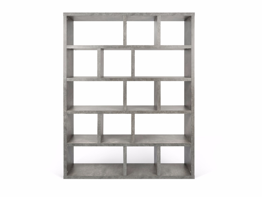 Open melamine shelving unit BERLIN | Melamine shelving unit by TemaHome