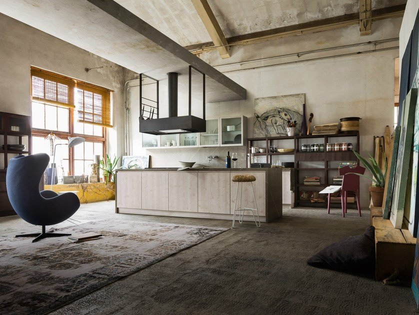 Kitchen with island BERLINO by Callesella Arredamenti