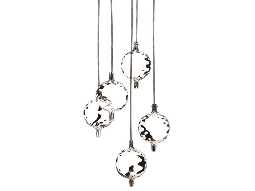 Blown glass pendant lamp BERRY by melogranoblu