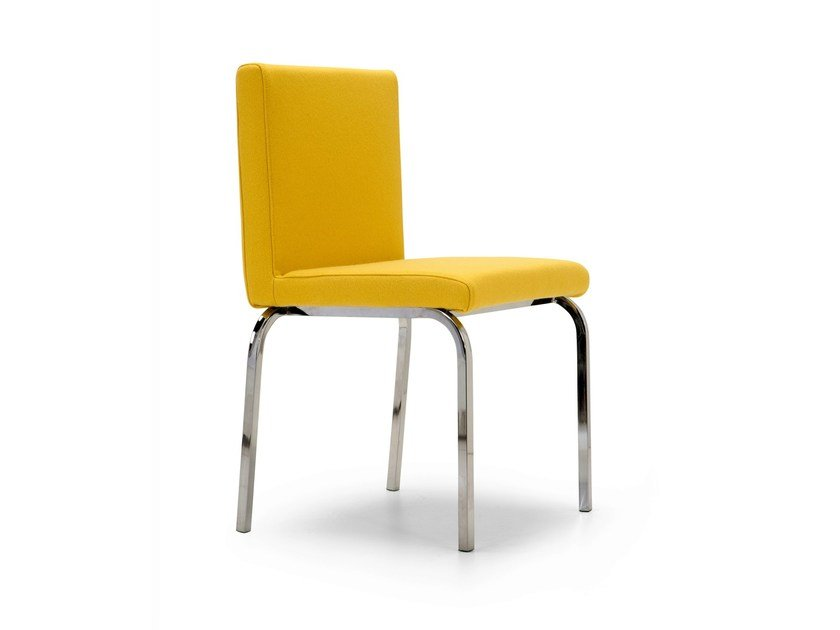 Upholstered stackable fabric chair BERT | Chair by Domingo Salotti