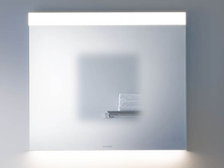 Wall-mounted bathroom mirror with integrated lighting BEST by Duravit