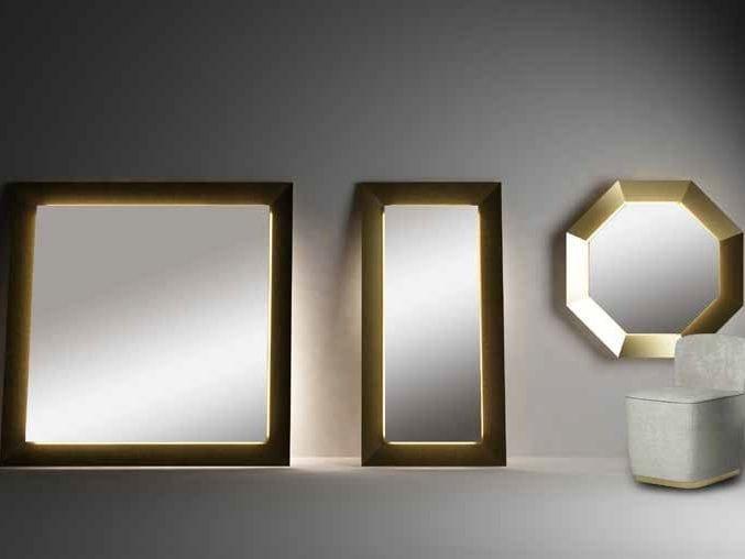 Specchio con illuminazione integrata best world by paolo castelli