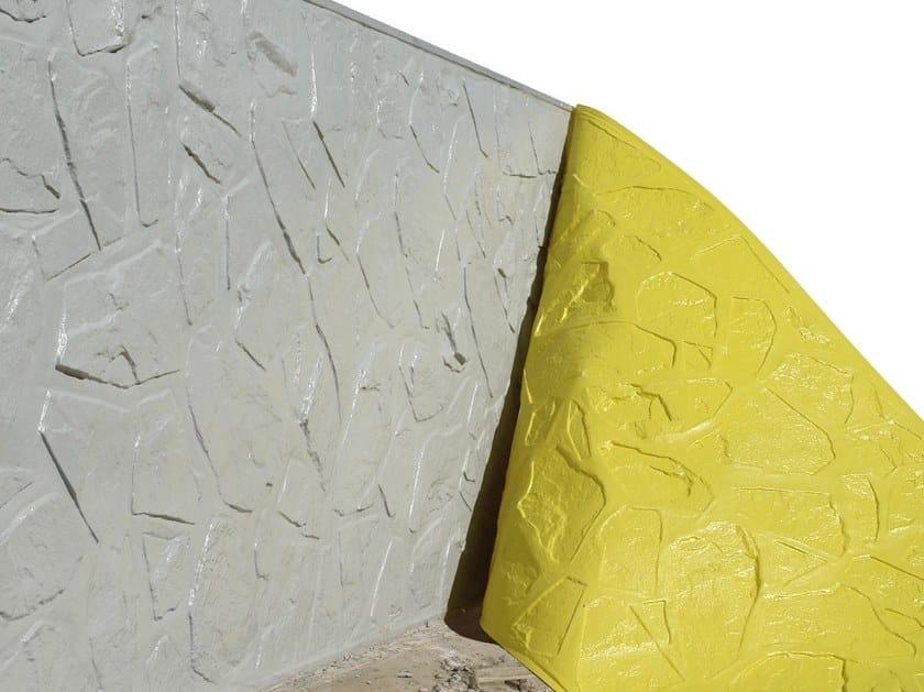 Matrice per parete facciavista calcestruzzo effetto pietra BETON-UNO S55 by Beton Uno