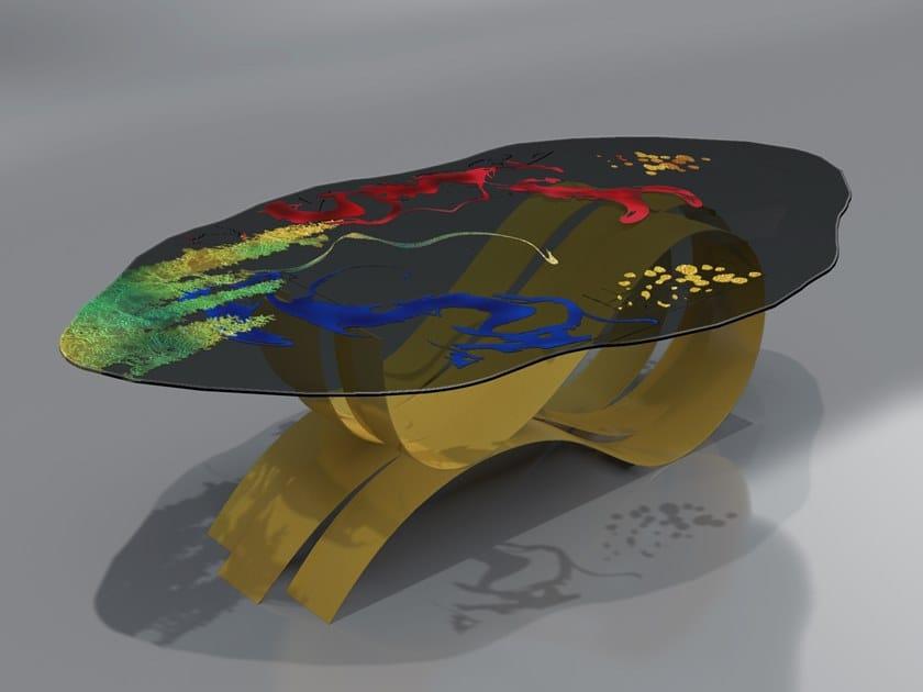 Tavolo in acciaio inox e vetro BETTA by Unica by Tecnotelai