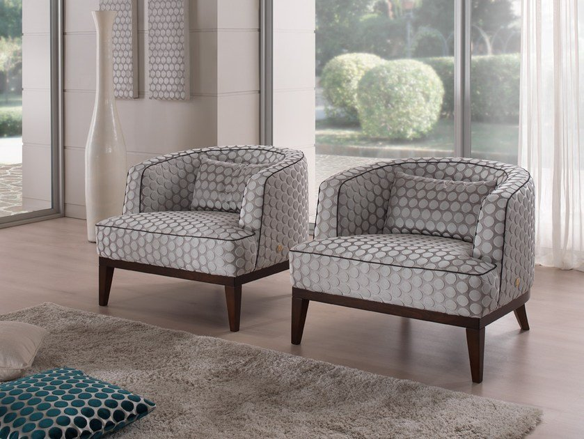 Fabric armchair with armrests BETTE | Armchair by Gold Confort