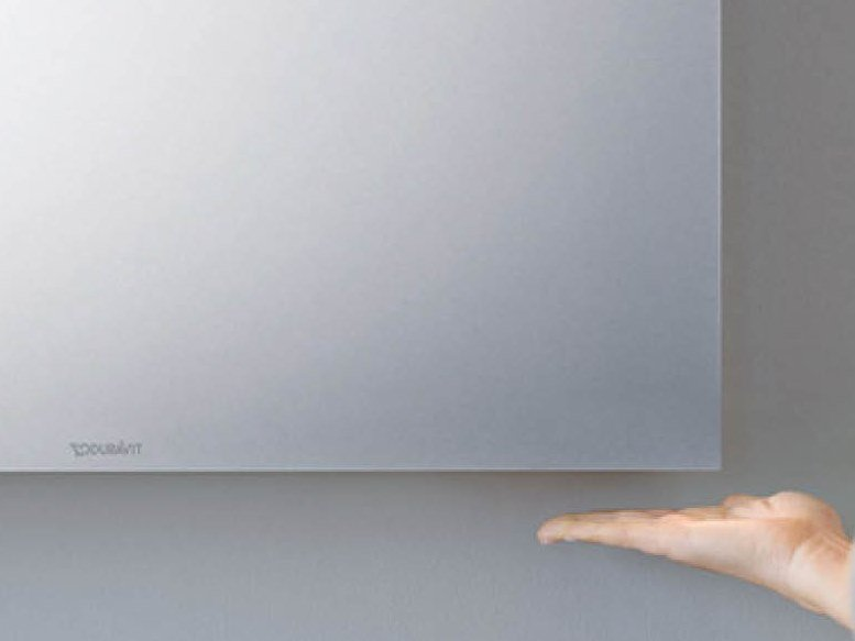 Wall-mounted bathroom mirror with integrated lighting BETTER by Duravit