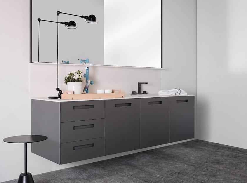 Wall-mounted vanity unit BÉTULA by Ornare