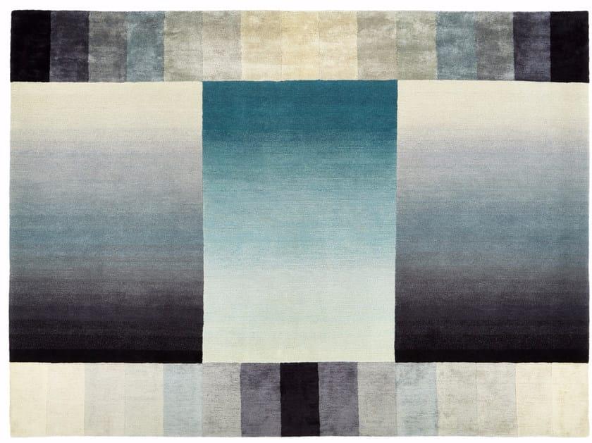 Handmade rectangular wool rug BEYOND by Deirdre Dyson