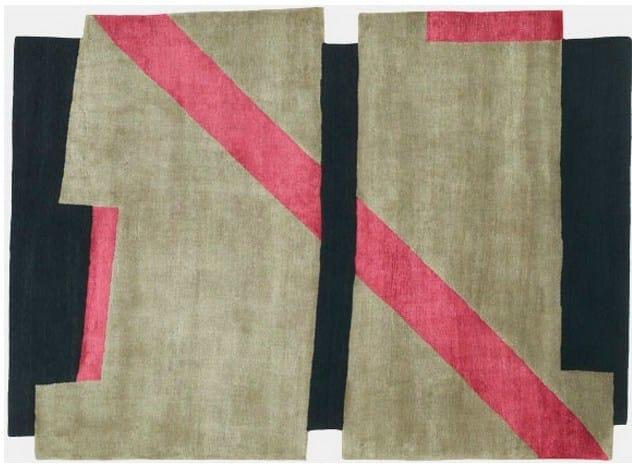 Handmade rug BI LINE II by Deirdre Dyson