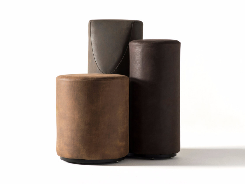 Sectional leather armchair with removable cover B.TRI SPECIAL EDITION by Opinion Ciatti