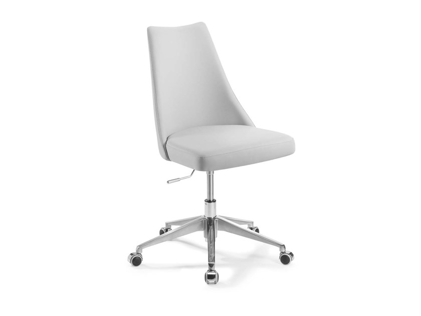 Swivel chair with 5-spoke base with casters BIANCADE | Swivel chair by Trevisan Asolo