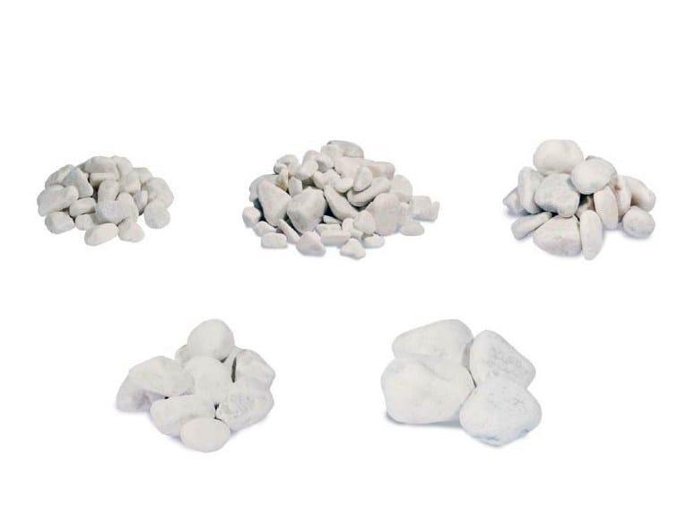 Decorative pebbles CARRARA WHITE by Bernardelli Group