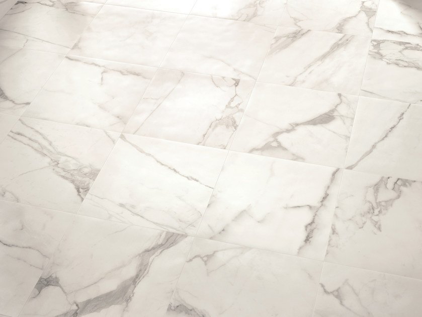 Porcelain stoneware wall/floor tiles with marble effect BIANCO D'ITALIA ARABESCATO by Provenza by Emilgroup