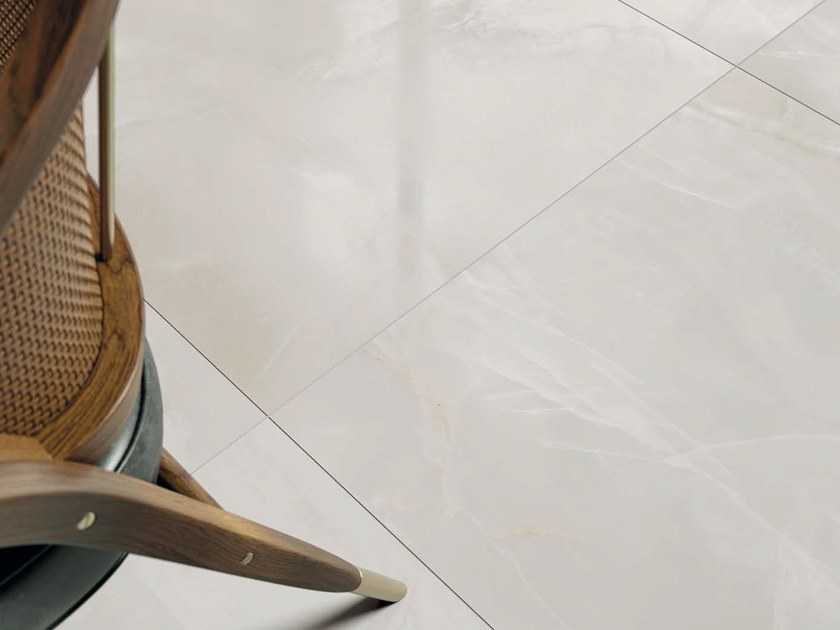 Porcelain stoneware wall/floor tiles with marble effect BIANCO ONICE by Ceramica d'Imola