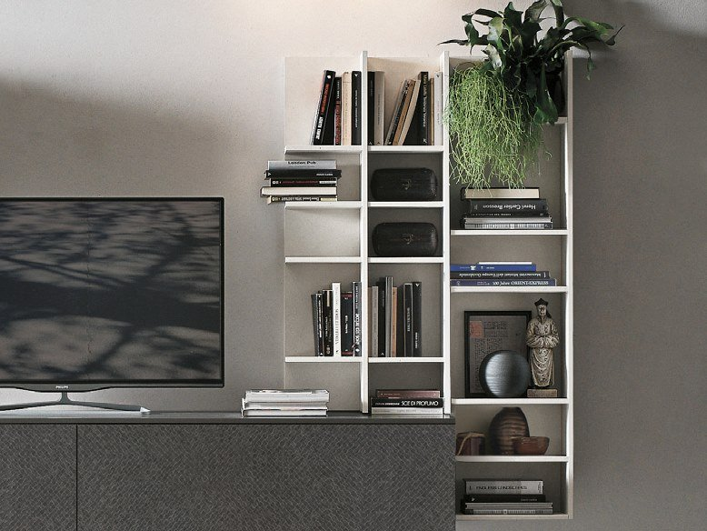 Floating bookcase BIBLO by Gruppo Tomasella