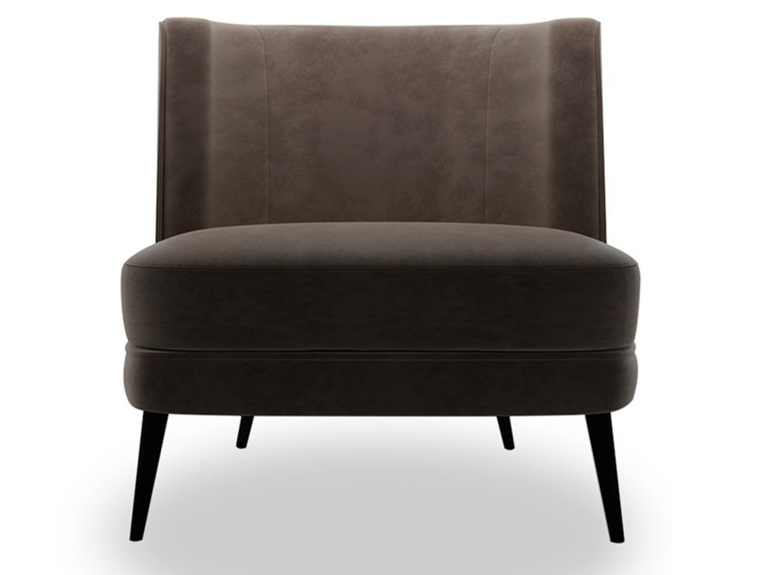 Upholstered nabuk easy chair BIBLO   Nabuk easy chair by EXENZA