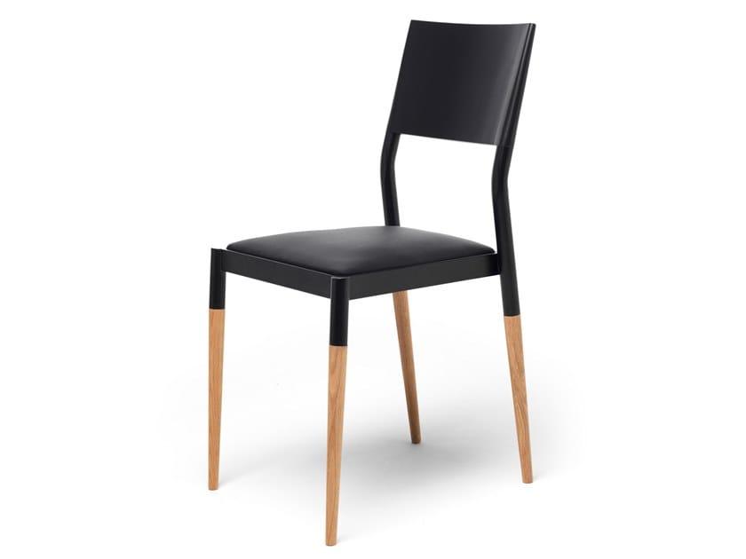 Sedia in acciaio e legno BIC by EPÒNIMO