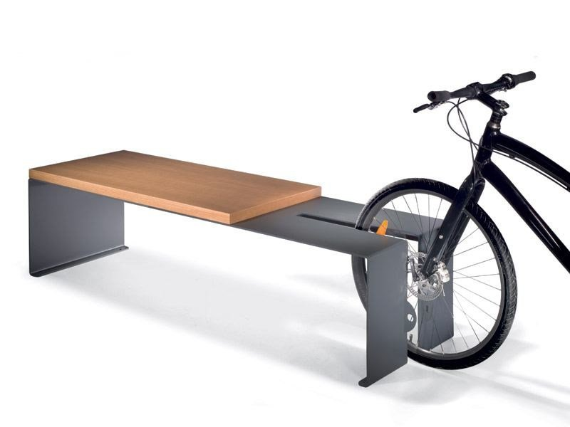 Steel Bench / Bicycle rack B-CYCLE by LAB23