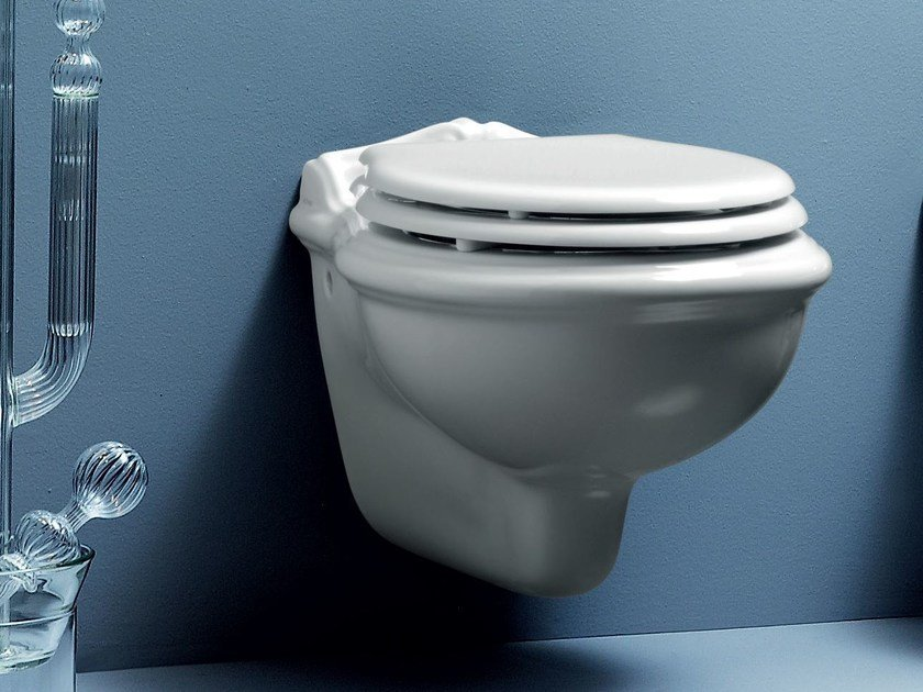 Wall-hung ceramic toilet VICTORIAN STYLE | Wall-hung toilet by AZZURRA sanitari