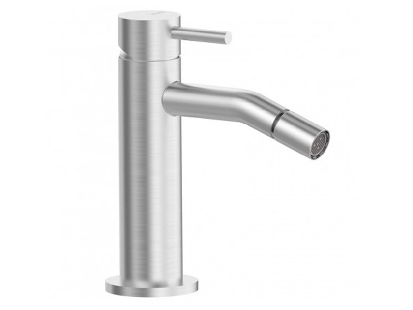 Countertop bidet mixer with swivel spout STEEL | Bidet mixer by BIANCHI RUBINETTERIE