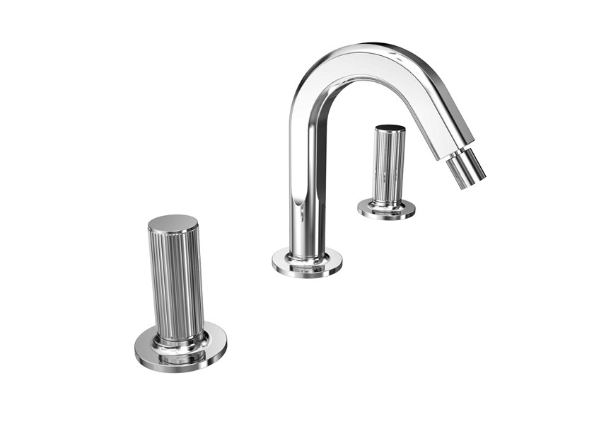 3 hole countertop bidet tap with swivel spout FUSION MONO | Bidet tap by BIANCHI RUBINETTERIE